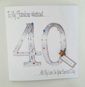 Image Is Loading Large Personalised 40th Birthday Card Husband Son Nephew