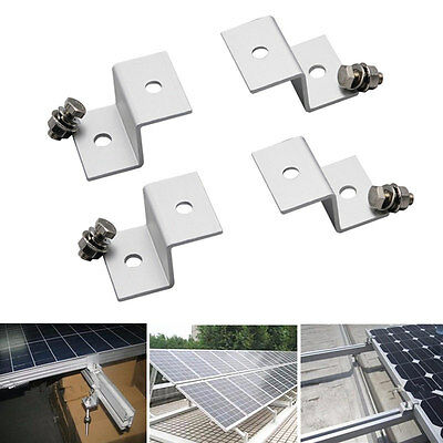 1 Set (4pcs) Solar Panel Mounting Z Type Bracket Aluminum W/ Stainless Bolt
