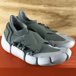Nike Footscape Flyknit DM  AO2611-002  SAMPLE Olive Green Gray Bone ... ddd2cf9b5