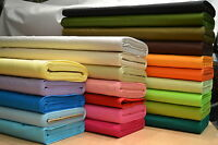 New 100% Cotton Fabric Sheeting Plain Solid Colours *Free P&P* Craft, Quilting