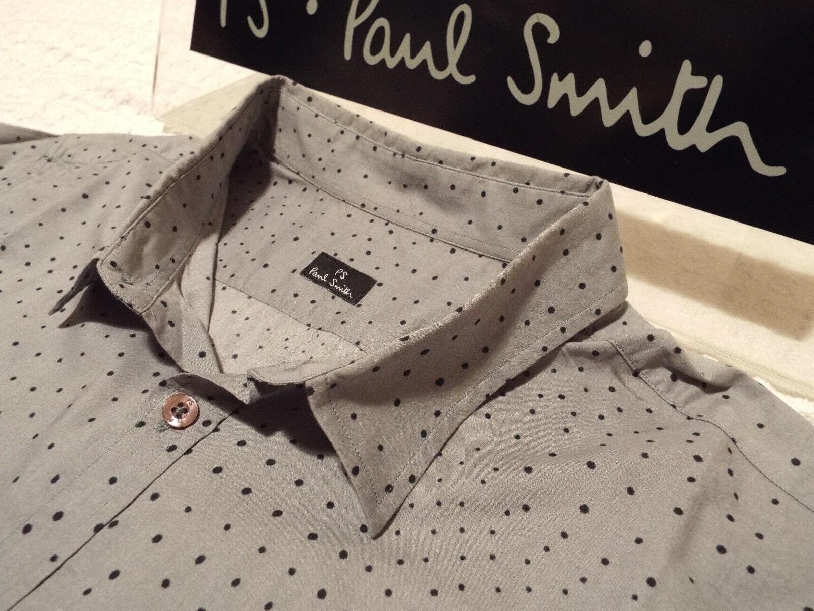 PAUL SMITH Mens Shirt  Size XL (CHEST 42 )  RRP +  IRREGULAR POLKA DOTS