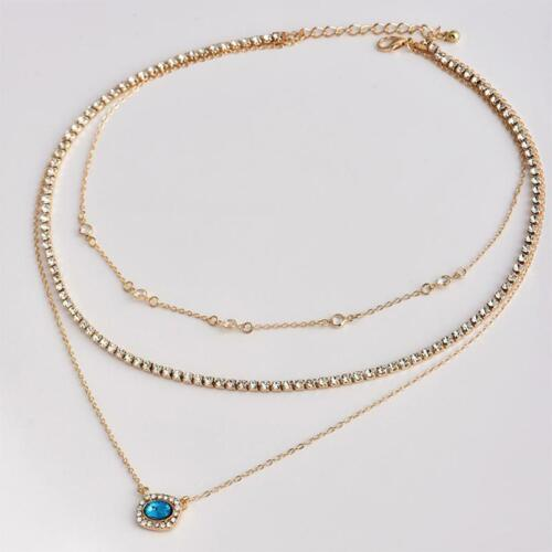 Gift Party Accessories Multi Layer Necklace Delicate Lady Popular Women Chain Y2