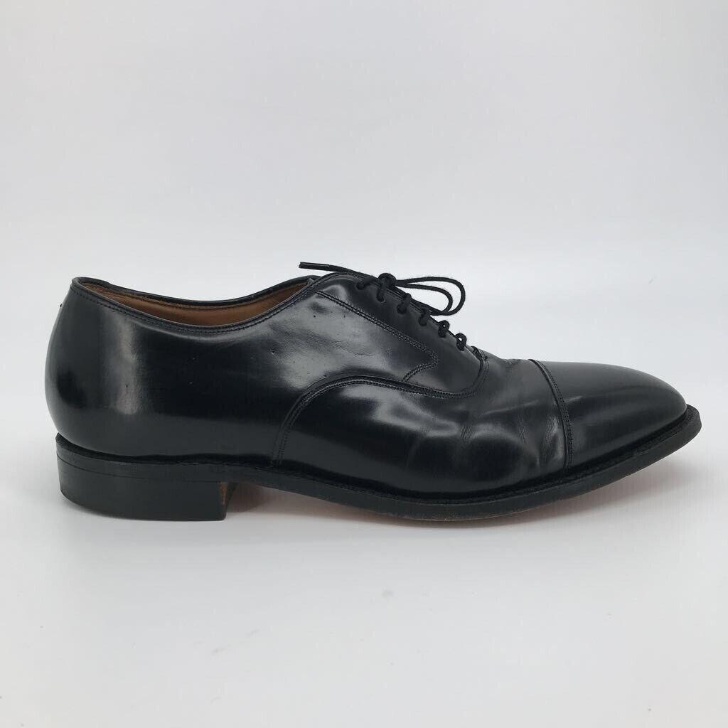 Johnston & Murphy Mens Melton Oxford Dress Shoes Black Leather Cap Toe 11 D