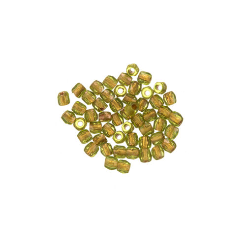 True2™ Fire Polished Czech Seed Beads 2mm Olive Copper Lined Pack of 50 L54//6