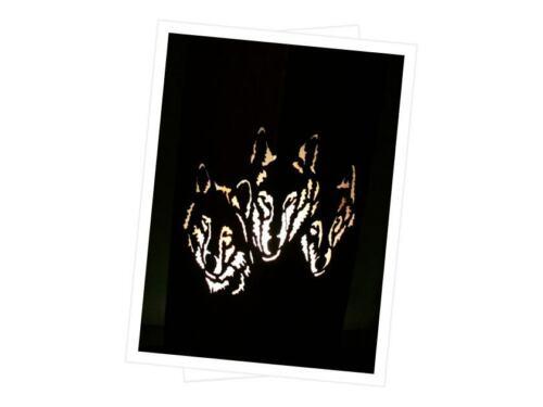 Rostsäule Wolf  Edelrostsäule ca.90 cm Hoch Gartendekoration ohne Schale