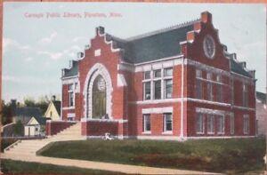 Pipestone-MN-1910-Postcard-Carnegie-Public-Library-Minnesota-Minn