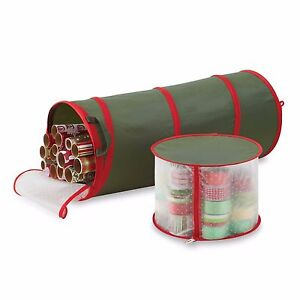 Holiday Pop Up Gift Wrap Storage Wrapping Paper Case Bag