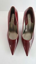 Nine West Farmer Red Patent Leather Stilletos Size 7 1/2M