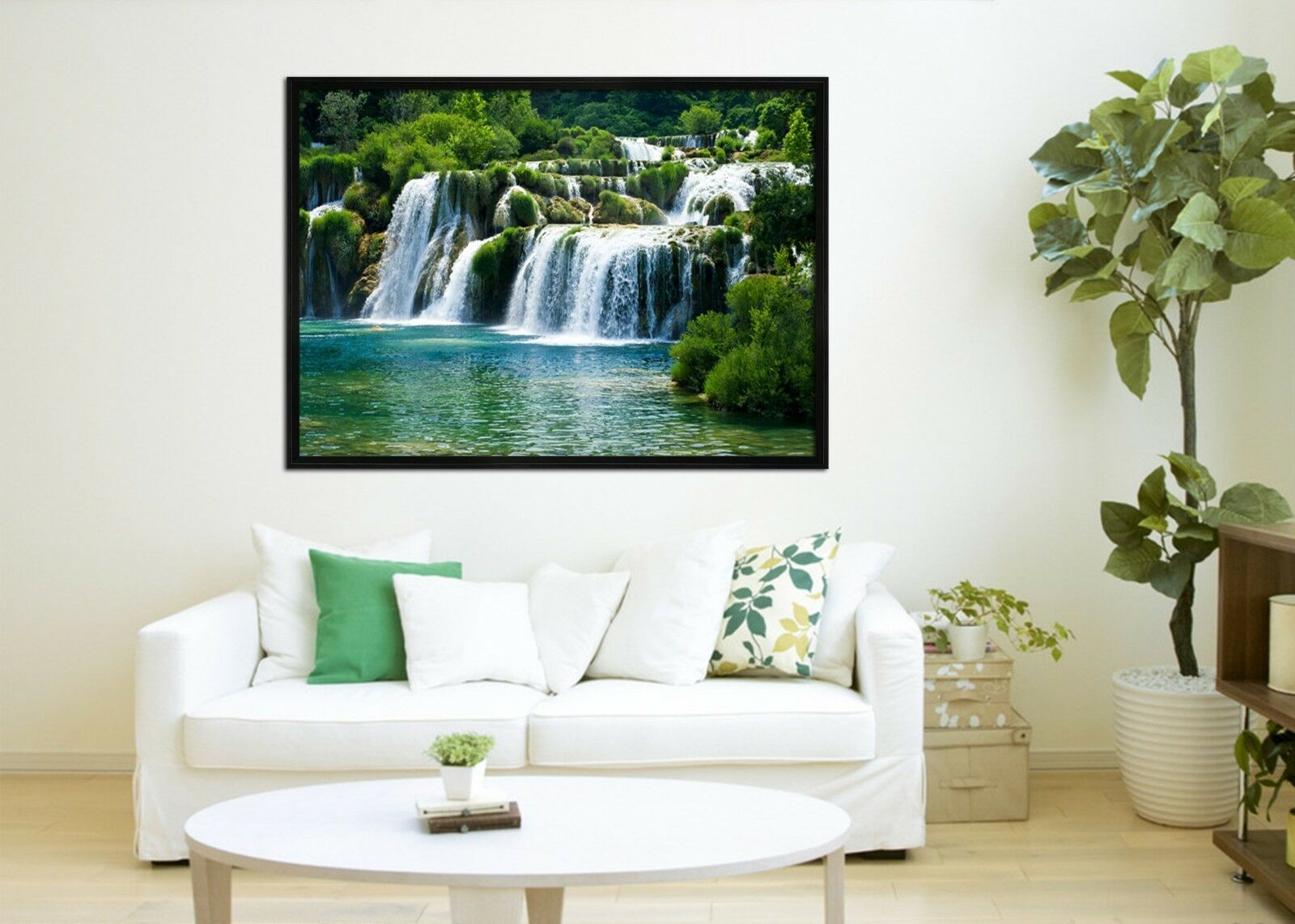 3D Grün Trees River 8 Framed Poster Home Decor Drucken Painting Kunst AJ WandPapier