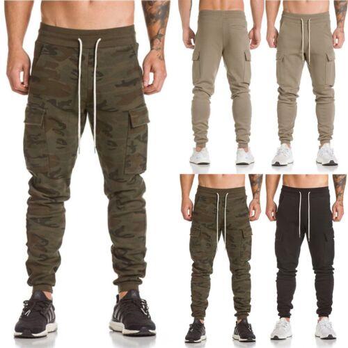 Men/'s Sports Pants Long Trousers Tracksuit Fitness Workout Joggers Sweatpants UK