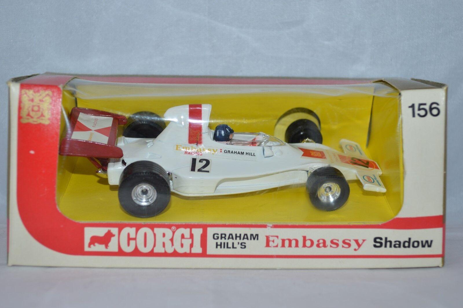 Corgi Toys 156 156 156 Graham Hill's Embassy Shad perfect mint in box original condition 97c7e6