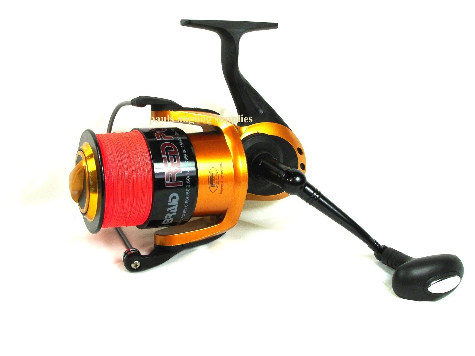 Red Power Sea Fishing Reel  BRAID FITTED  For Beach Beachcasting Pier rod