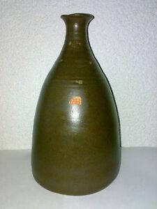 Vase-Petra-Toepferei-Studio-Pottery-Keramik-H-24-cm-Japan-Stil-Space-Age