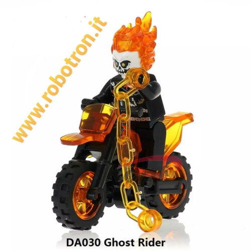 GHOST RIDER COSTRUZIONI MARVEL Minifigures compatibili Lego Moto GHOST