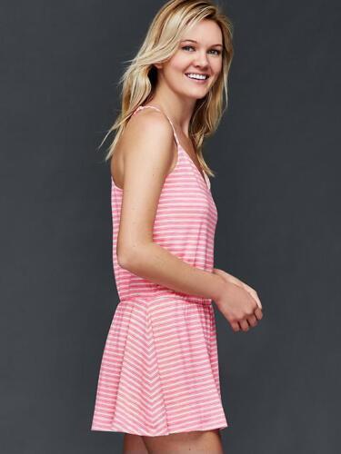 Gap Women/'s Pink Stripe Cami Skort Romper Size S