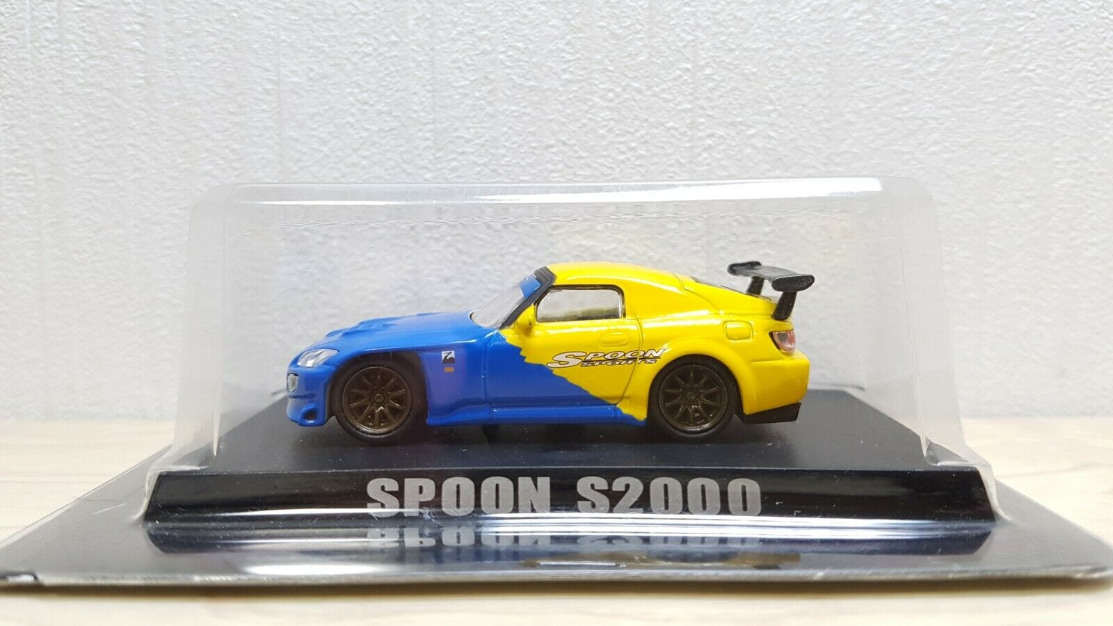 1 64 Aoshima OPTION HONDA SPOON S2000 Blau Gelb diecast car model