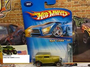 HOT WHEELS 2005 #97 -1 32 FORD DELIVERY GOLD 5SP REDLINES LRG TAMPO THAIL 05CA