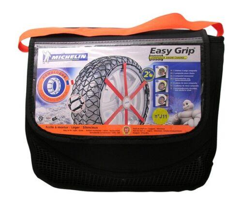 Michelin 2x Easy Grip Chaînes à neige X13 7912 Coupe 215//75//16 225//70//16 pneus NEUF