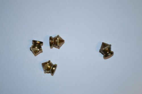 # 6-32 6-32 brass spike nuts lamp parts lot of 4 vintage No.6-32