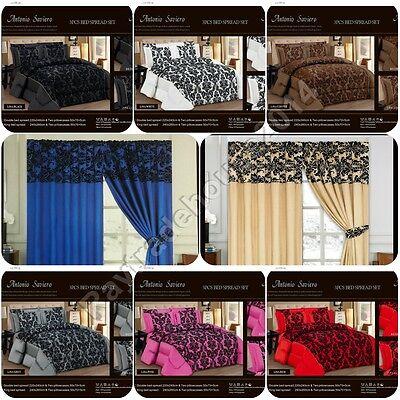 Luxurious ANTONIO SAVIERO 7 Piece Bed Spread Comforter Set Double /& King Size