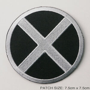THE-X-MEN-Movie-Style-Silver-Black-Quality-Iron-On-Embroidered-Patch-FULL-SIZE