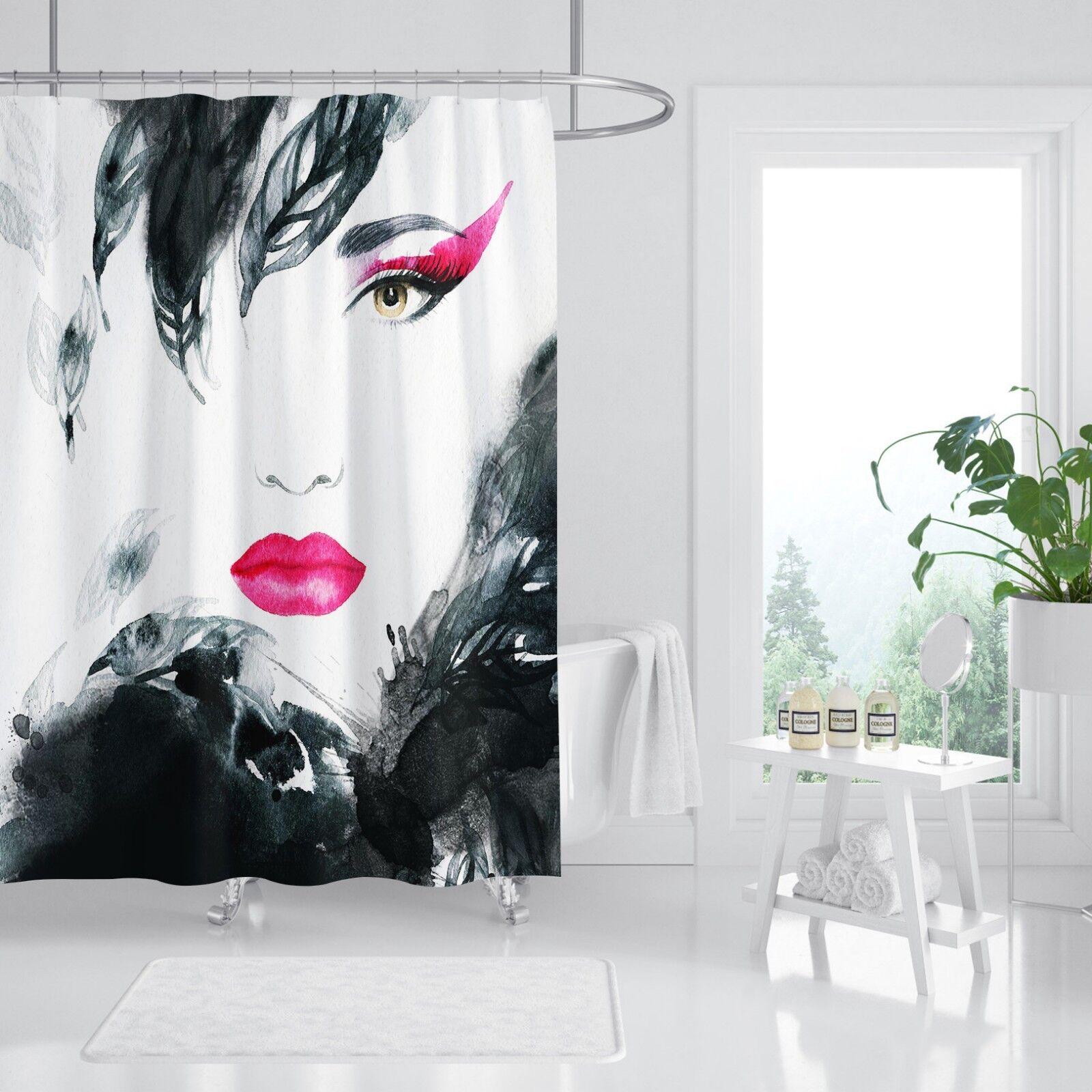 3D fille Graffiti 880 Rideau de Douche Imperméable Fibre Salle De Bain Windows Toilette