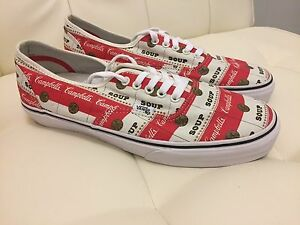 Supreme X Vans X Campbells Soup Authentic Pro Shoes Sz  10 5 NEW