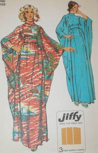 Vintage 1970s Simplicity 5900 Jiffy Caftan Hippie Dress Pattern OS