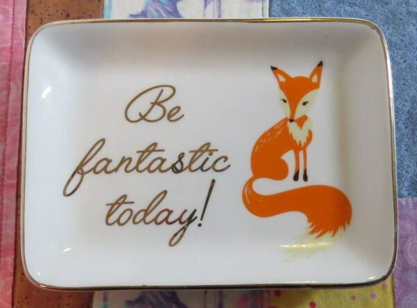 """""""be Fantastic Today"""" Ceramic Accessory Soap Dish Jewelry Tray Tmd Holdings Elegant In Stijl"""