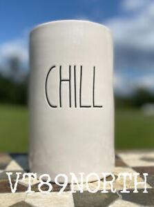 "New RAE DUNN Artisan Collection ""CHILL"" Wine Bottle Chiller Holder By Magenta"