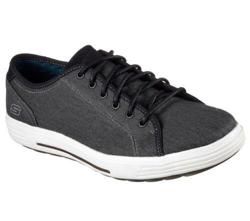 Skechers Porter Meteno Trainers Mens Memory Foam Canvas Plimsoles Shoes 64935