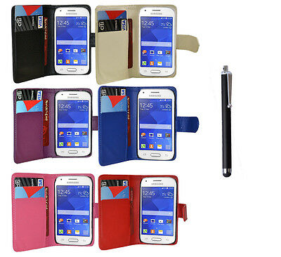 FOR SAMSUNG GALAXY ACE STYLE SM-G310HN PHONE WALLET FLIP LEATHER CASE + STYLUS