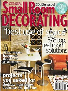 Small Room Decorating magazine Best use of space Real solutions ...