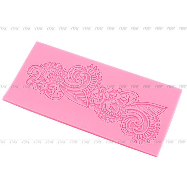 NEW Silicone Lace Mold Sugar Craft Fondant Mat Cake Mould Baking Tool Decorating