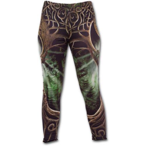 Spiral Direct Oak Queen Celtic Knotwork Forest Trees Green Brown Leggings