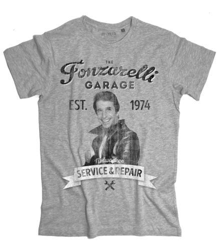 Men/'s T-Shirt Fonzie Garage Fonzarelli Inspired Happy Days T-Shirt the Fonz