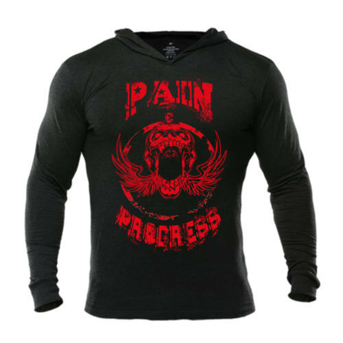 Iron Gods Pain /& Progress Hoodie Bodybuilding Gym Weightlifting Pullover Workout