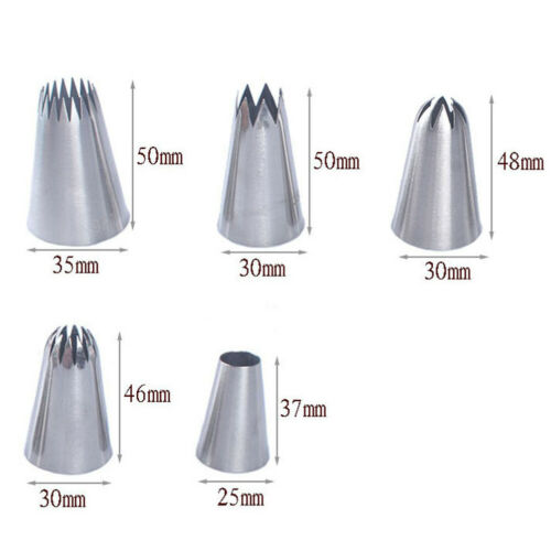 5XLarge Russian Icing Piping Pastry Nozzle Tips Cake Decorating Tool Nozzles MA