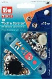 PRYM Druckknöpfe für Yacht /& Caravan 15mm Persenning Boot Abdeckung
