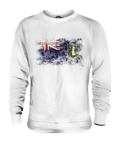 UK VIRGIN ISLANDS DISTRESSED FLAG UNISEX SWEATER TOP GIFT SHIRT CLOTHING JERSEY