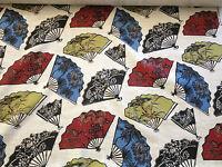 Designer Gp&j Baker Fabric Batik Fans Linen - Curtain/ Soft Furnishings