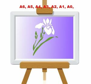 Iris-Flag-Flower-and-Leaves-Stencil-350-micron-Mylar-not-thin-stuff-FL029