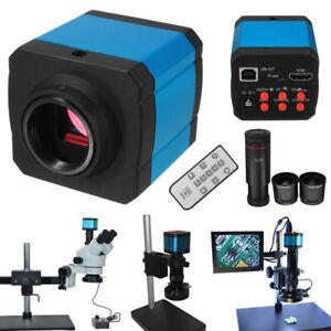 14MP-1080P-HDMI-USB-C-mount-Industrial-Digital-Microscope-Camera-Remote-Control