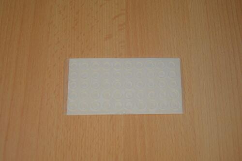 100x Protection tampon amortisseur silicone demi-cercle Tampon Auto-adhésif Buttoir