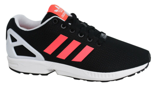 c0955804b2200 Adidas Originals ZX Flux Lace Up Black Womens Running Trainers B34057 U100