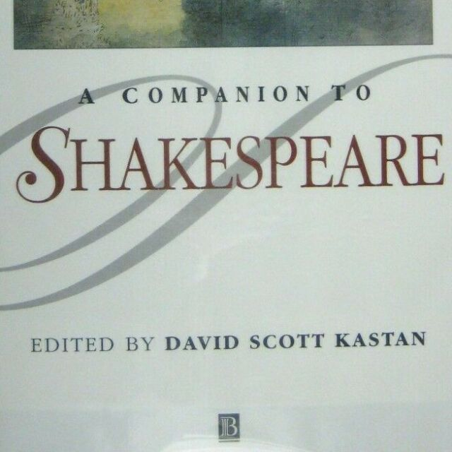 A Companion to Shakespeare by David S. Kastan EX Library Hardcover Dust Jacket