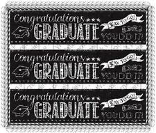 Congratulations Graduate ~ Edible Cake Topper ~ 1/4 Sheet Designer Strips ~ D530