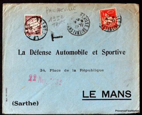 ALGERIE  1932   LETTRE TAXEE   ENVELOPPE     166CA131