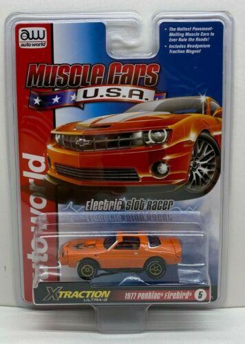 Auto World MUSCLE CARS USA 977 Pontiac Firebird Orange 1:64 HO Slot Car SC354-5O