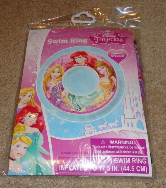 Disney Princess Swim Ring Inflatable Float Ariel Rapunzel Belle Tkl1